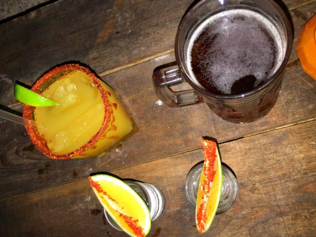 Mezcal shots in Valladolid Mexico