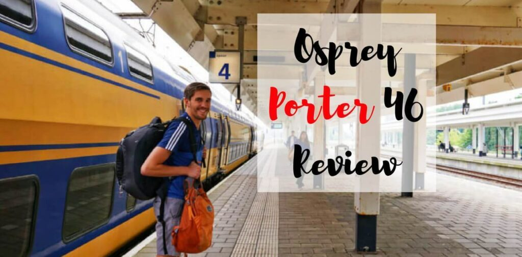 Nate in Amsterdam with his Osprey Porter 46L backpack
