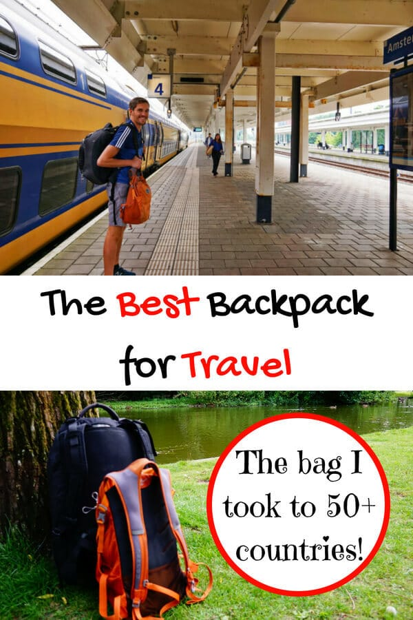 Looking for the best backpack for travel? I took this awesome backpack to 50+ countries! Read why I think it's the best bag you can get for backpacking. #backpack #travelbag #reviews #backpacking