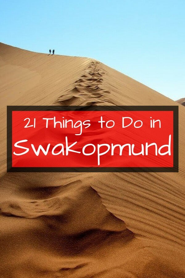 21 Awesome Things to do in Swakopmund Namibia. From riding ATVs through sand dunes to dolphin watching, these are the best activities in this awesome African destination. #Swakopmund #Namibia #travel