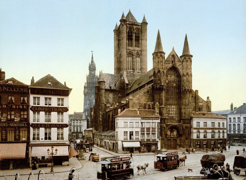St. Bravo's Cathedral in Ghent Belgium
