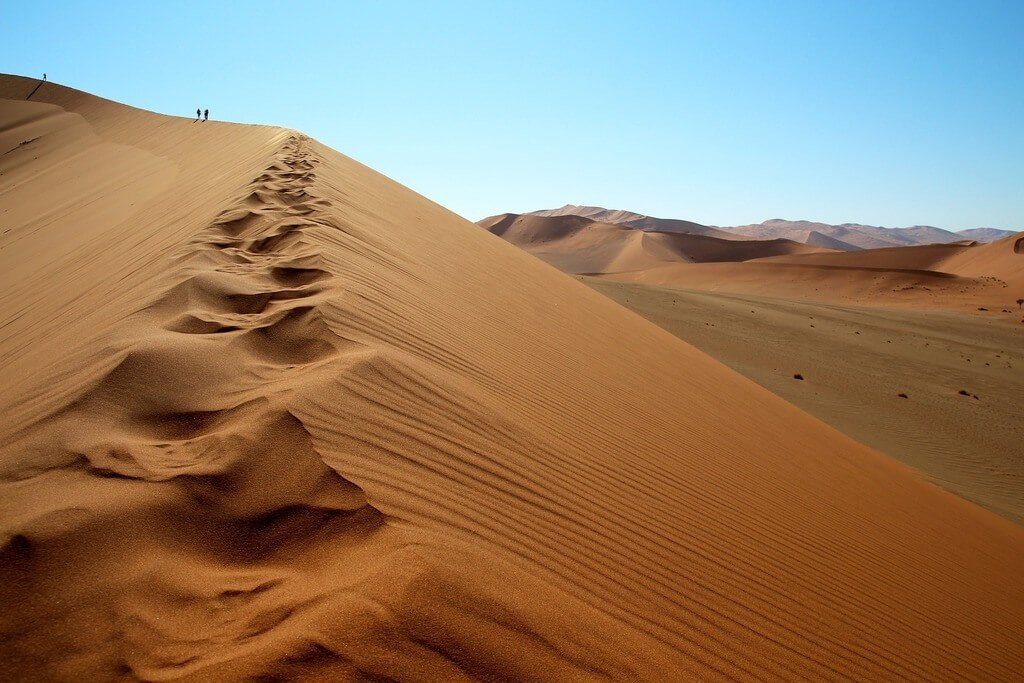 The sand dunes are a top thing to do in Swakopmund Namibia
