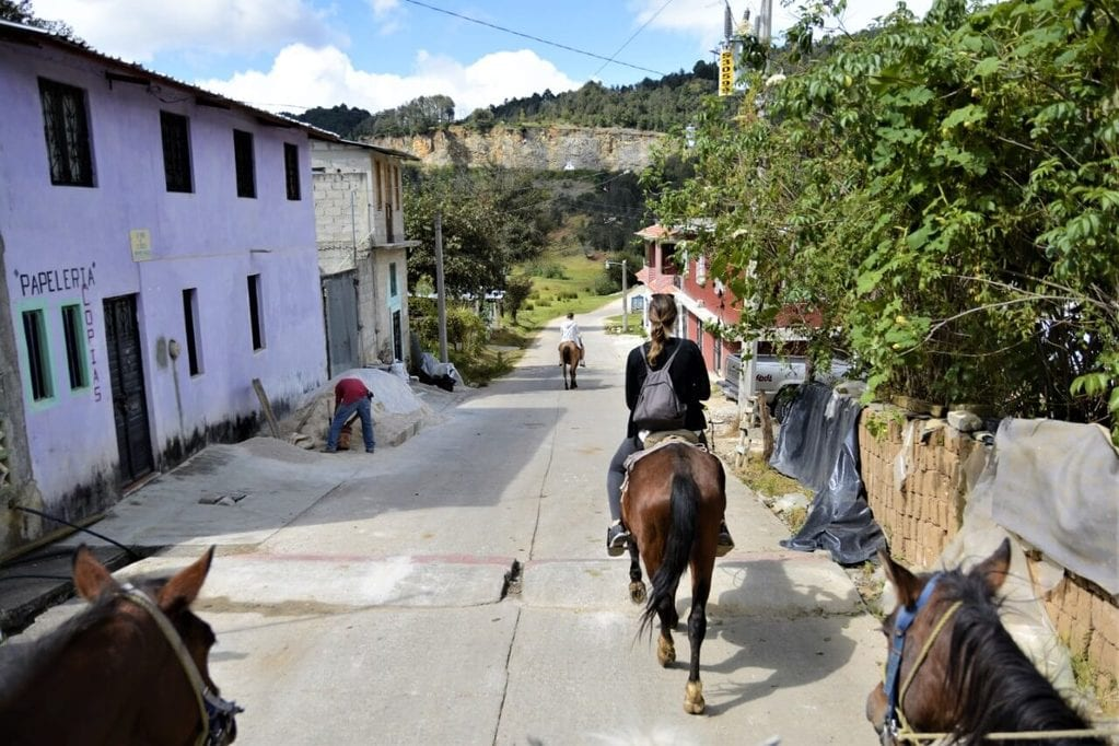 Riding a horse in Chamula is a great thing to do in Mexico