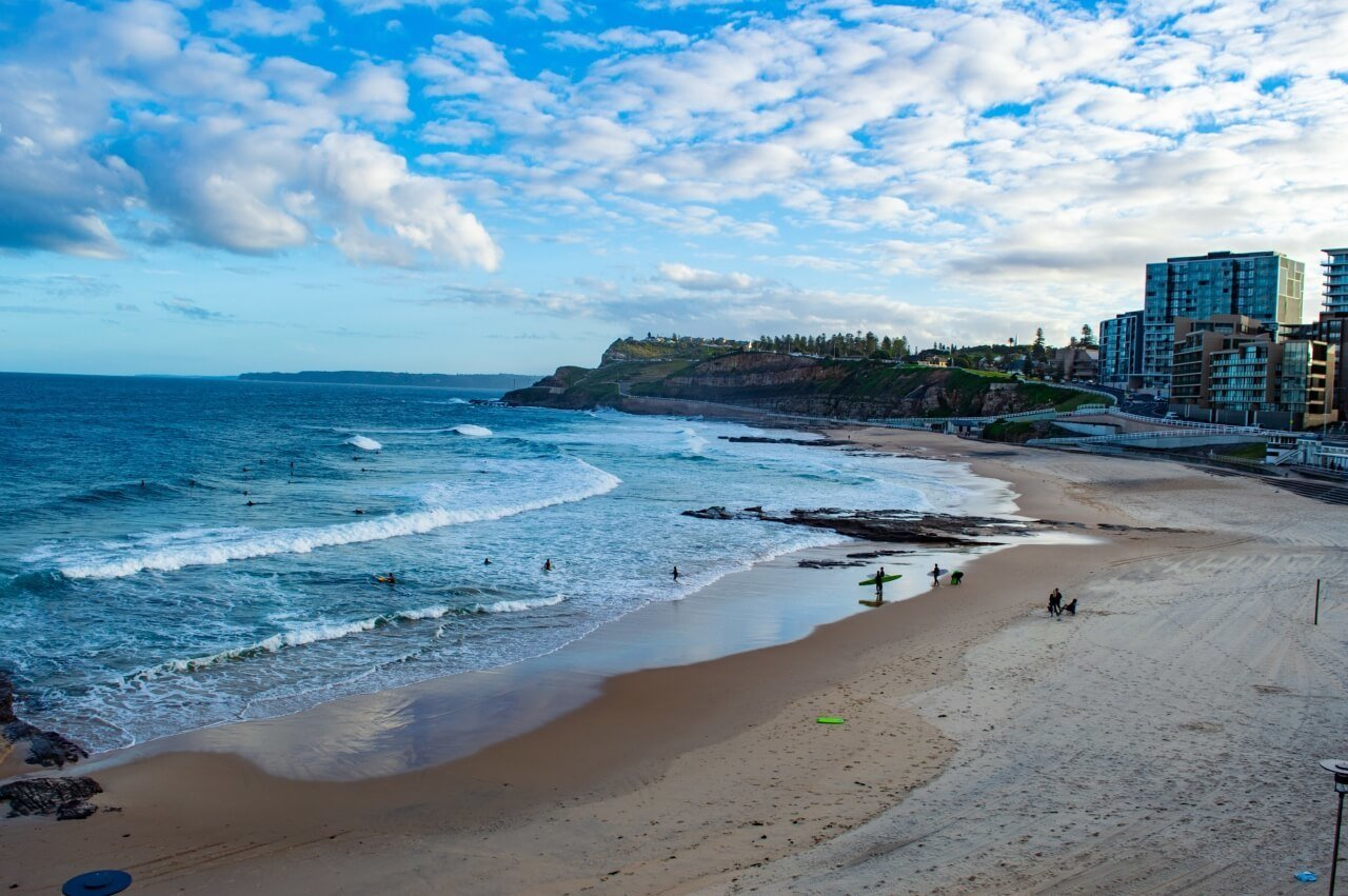 Swimming at Merewether Beach is a great activity in Newcastle Australia
