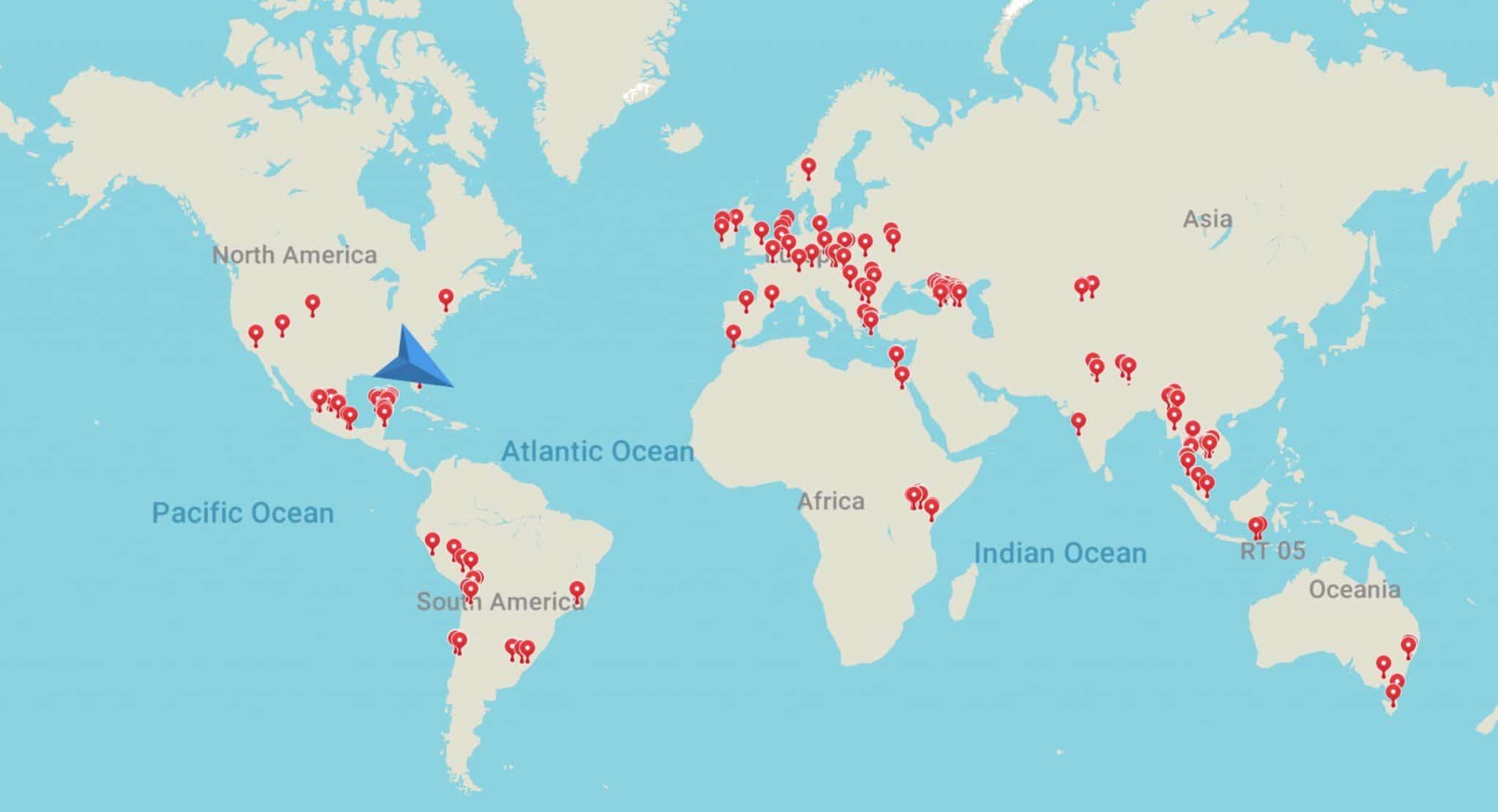 Travel Lemming World Map