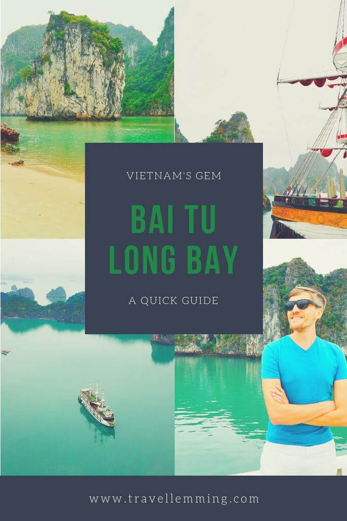Bai Tu Long Bay is a great alternative to the more crowded Ha Long Bay. Check out this quick guide to cruising this gem in Vietnam! #baitulongbay #halongbay #vietnam