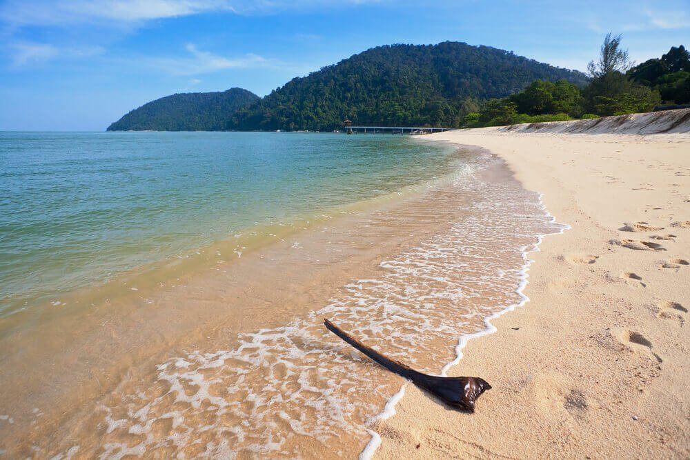 A beach in Penang National Park