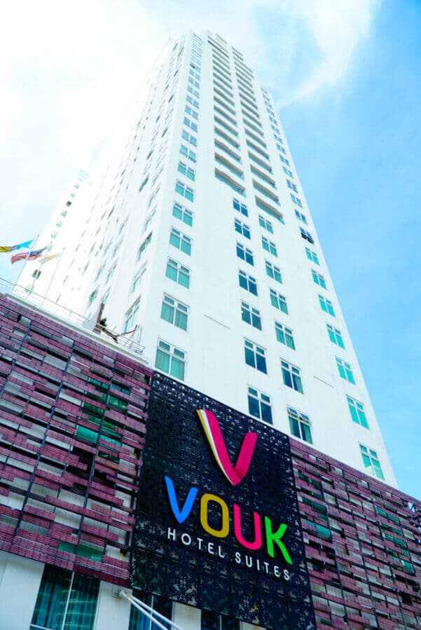 The exterior of Vouk, a top hotel in Penang Malaysia