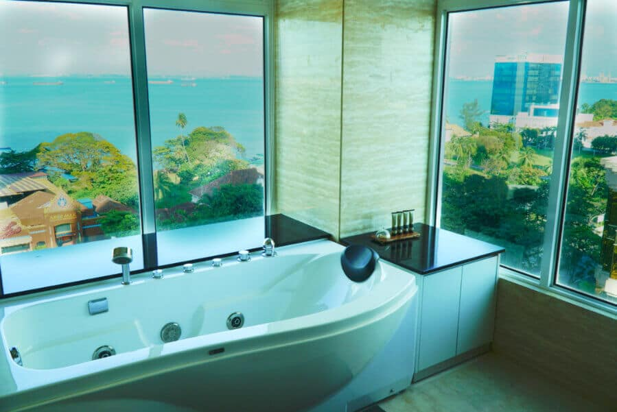 Bathrooms in Vouk Hotel, a Top Hotel in Penang