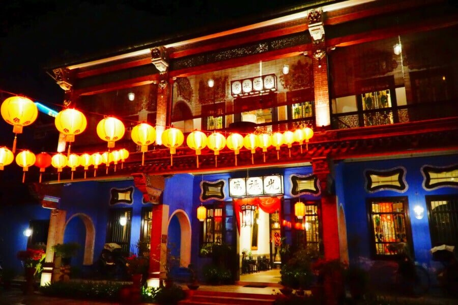 Penang's Blue Mansion by Night