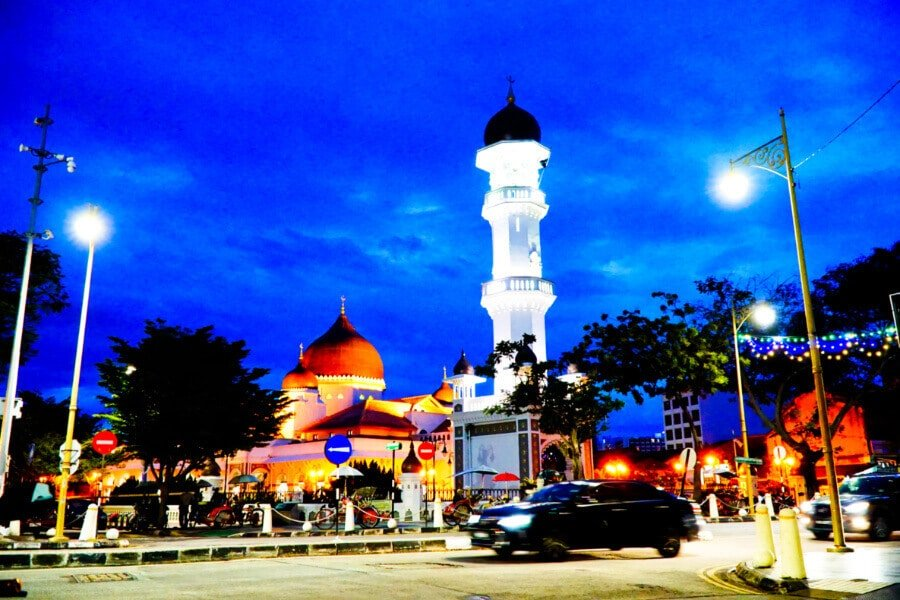 Georgetown, Penang by night