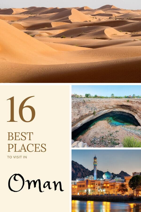 The Best Places to Visit in Oman - Picked by a Local! From the Wahiba sand dunes to witnessing sea turtles to the best mosques, these are the 16 best places to visit in #Oman according to our local #Muscat writer!