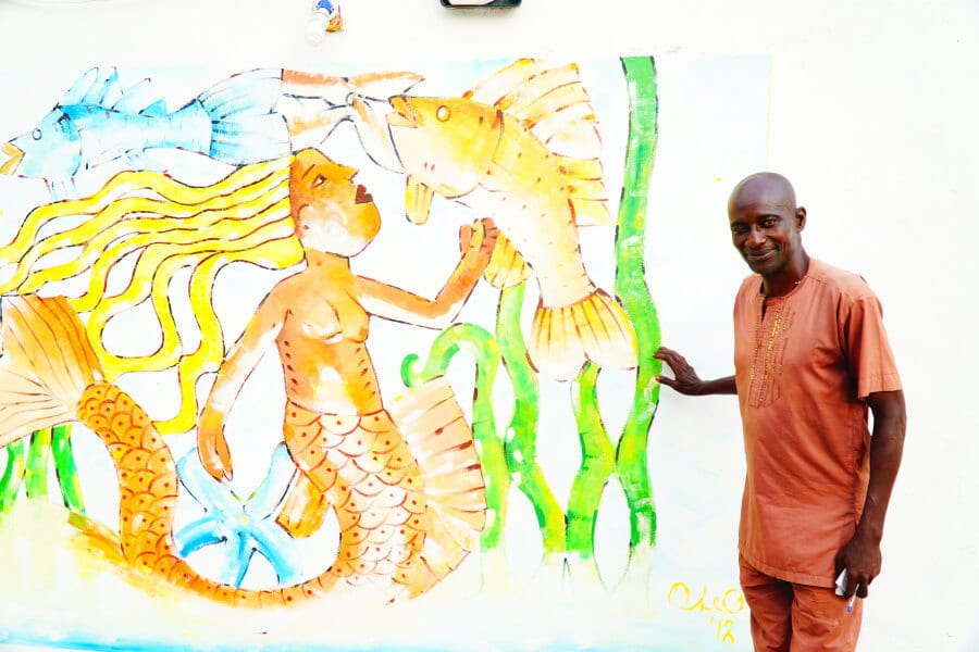 A man in Lagos Nigeria