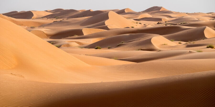 The famous Wahiba Sands in Oman