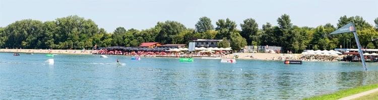 Ada Ciganlija Lake in Belgrade Serbia