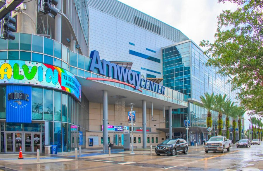 Exterior view of Orlando's Amway Center