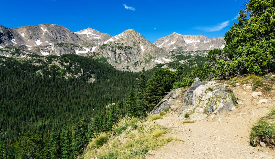 View of the Arapaho Pass Trail near Eldorado