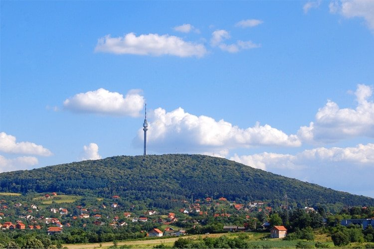 Avala Tower on the Outskirts of Belgrade Serbia