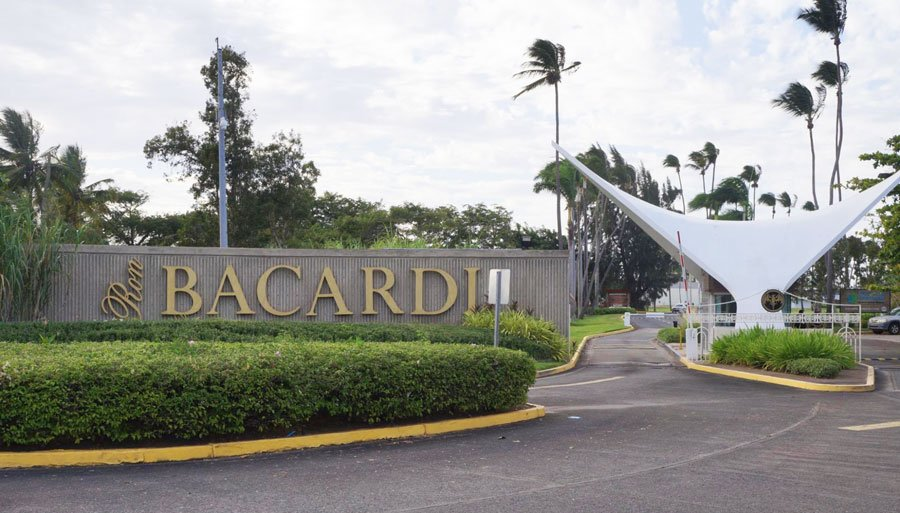 View of the entrance to the Bacardi Factory