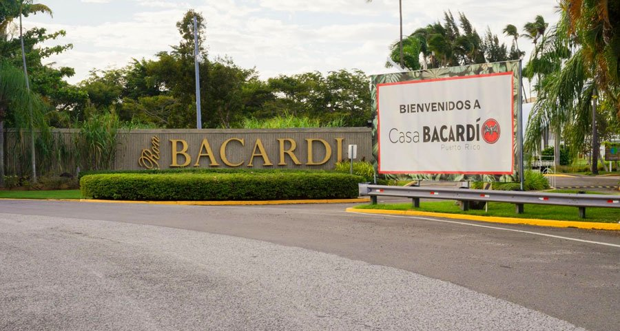 View of the Casa Bacardi sign on the entrance