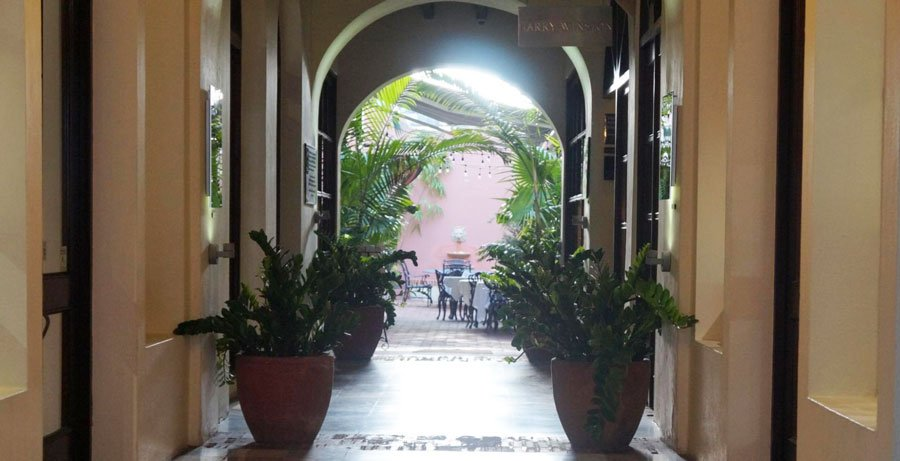 View of a hall in a bar in San Juan