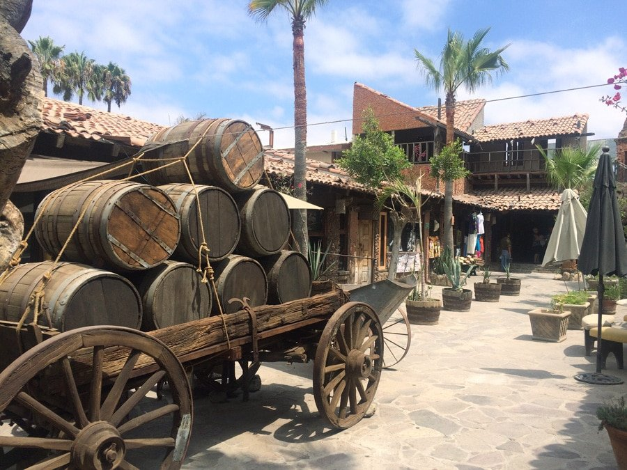 View of a stock of barrels in a wagon along Rosarito area