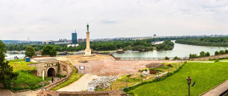 Belgrade Cityscape from the Sava River