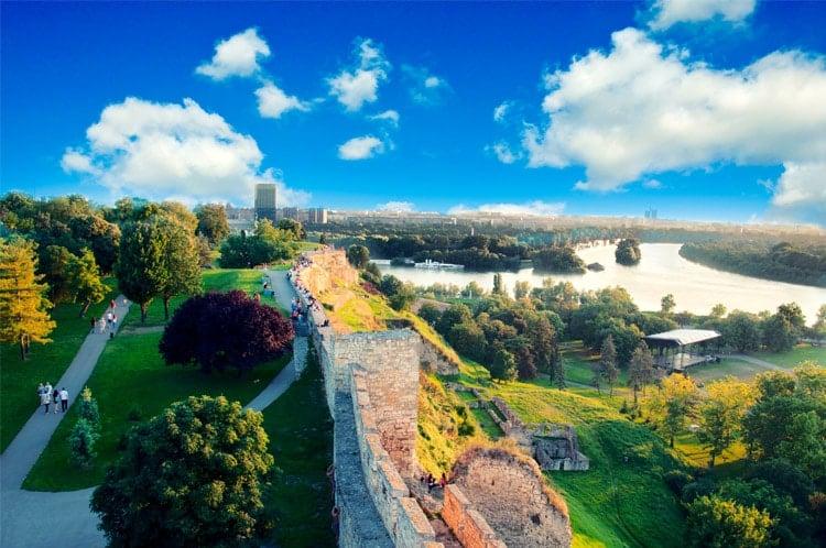 Belgrade Panoramic View from Kalmegdan