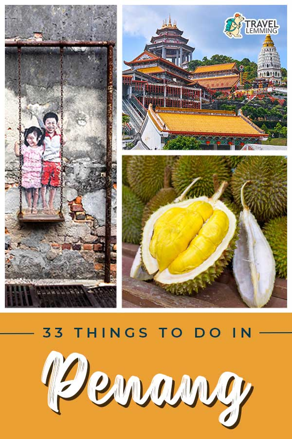 Got a trip planned to #Penang #Malaysia soon? Then you've landed on the right article! Listed here are 33 of the best #ThingsToDo in Penang. From exploring street art in #GeorgeTown to taking a street food tour, you won't run out incredible activities you can try out in Penang. As a bonus, we've included helpful #TravelTips and a list of #WhereToStay in Penang.
