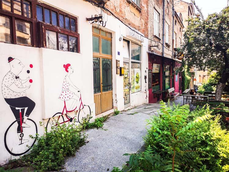 Bike Murals on Savamala District in Belgrade Serbia