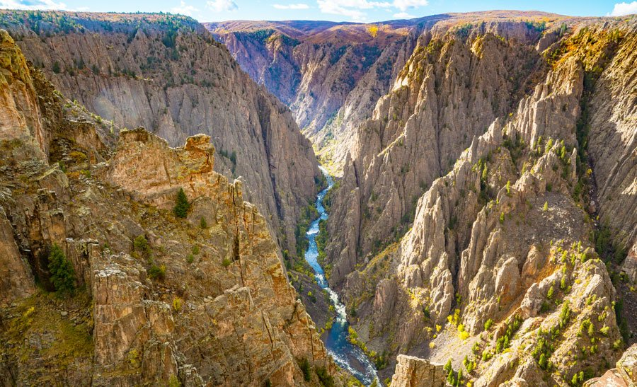 Overlooking view of the Black Canyon of the Gunnison