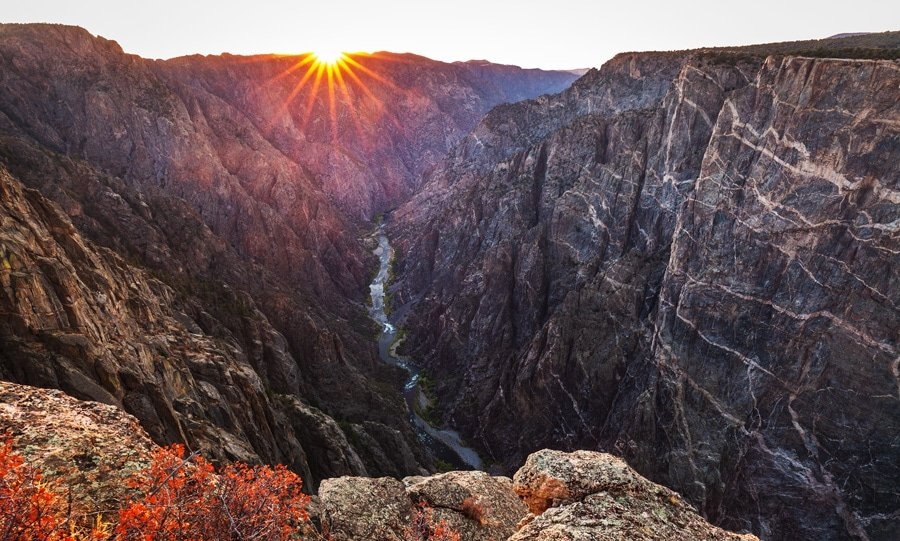 View of the sunset in Black Canyon