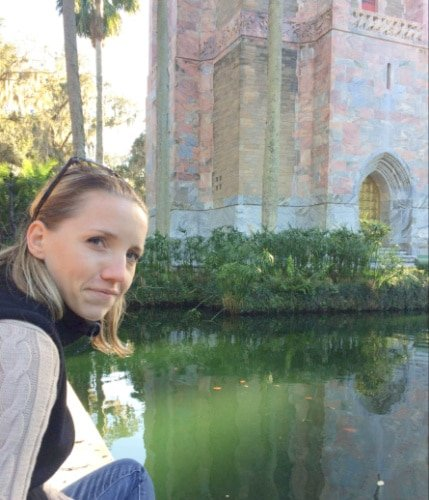 View of the author at Bok Tower Gardens