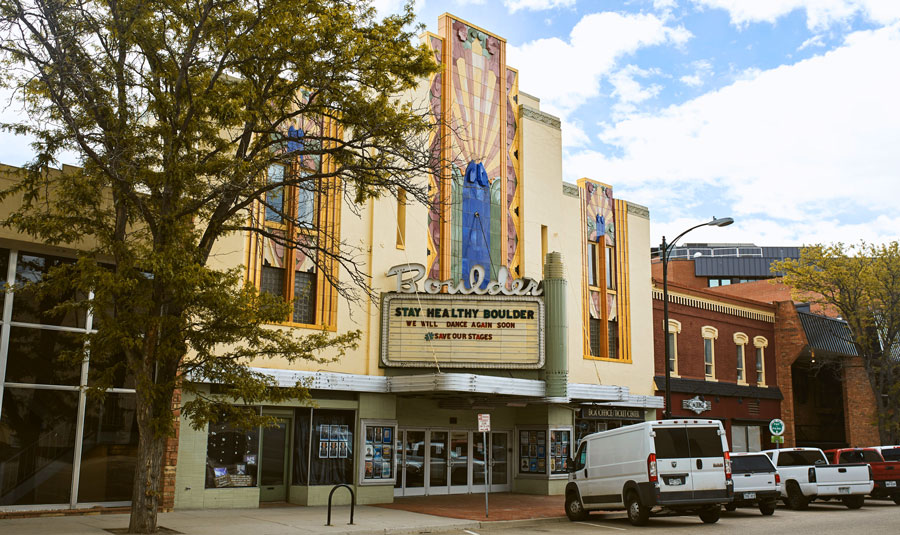 View of the Boulder Theater outside