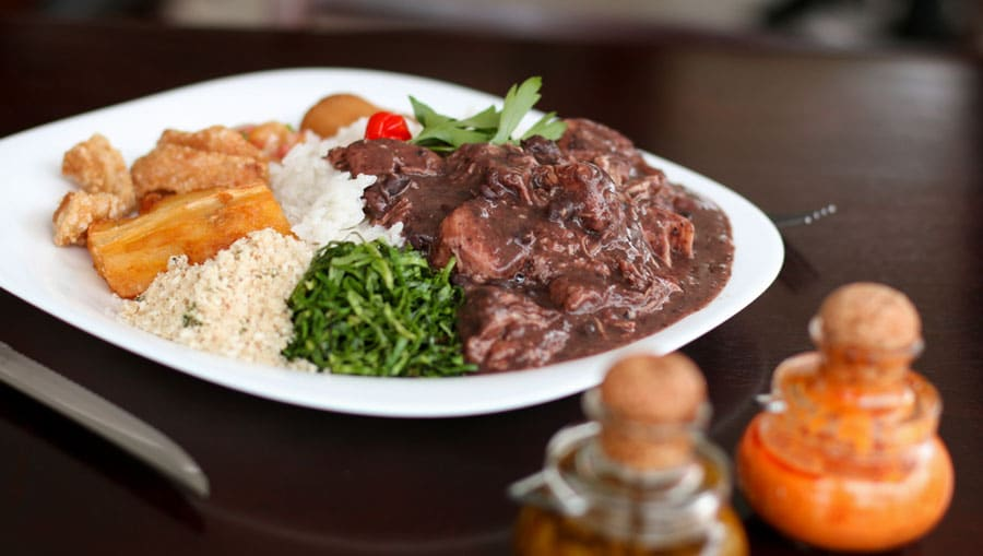 View of a Brazilian Cuisine on a table