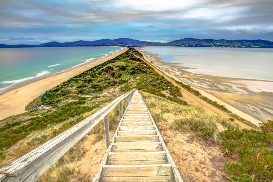 Steps to The Neck in Bruny Island Tasmania