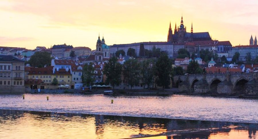 View of the Prague Castle from afar