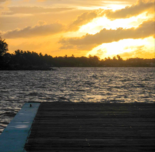 View of a sunset in Cabo Rojo