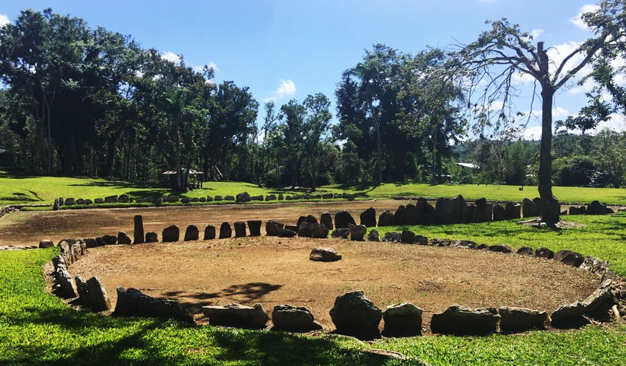 View of a ceremonial park in Caguana