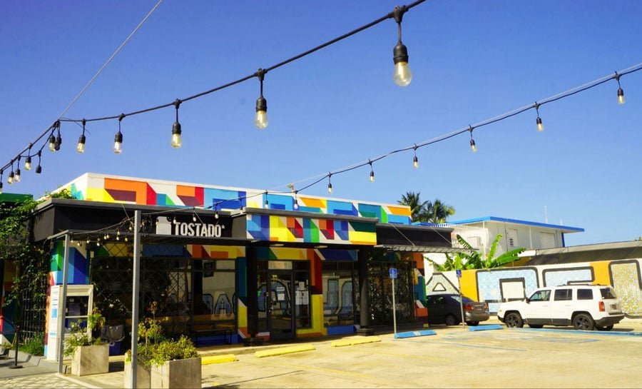 View of a colorful shop in Calle Loiza