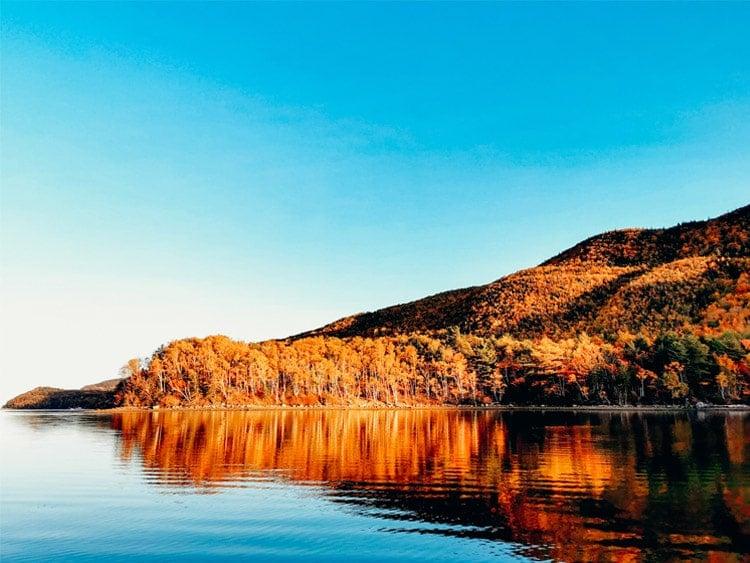 Cape Breton Atlantic Coastline in autumn