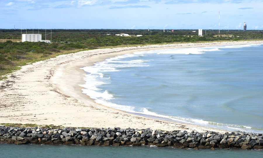 View of the beach of astronauts in Cape Canaveral