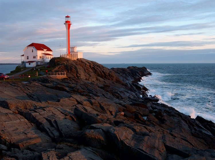 Cape Forchu Lighthouse in Nova Scotia