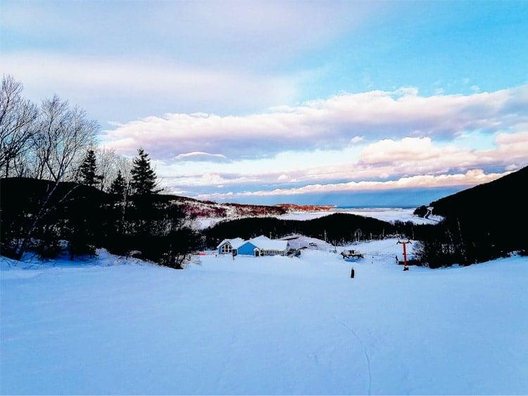 Cape Smokey Ski Area in winter