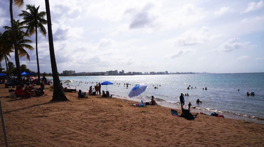 View of people enjoying in Carolina Beach