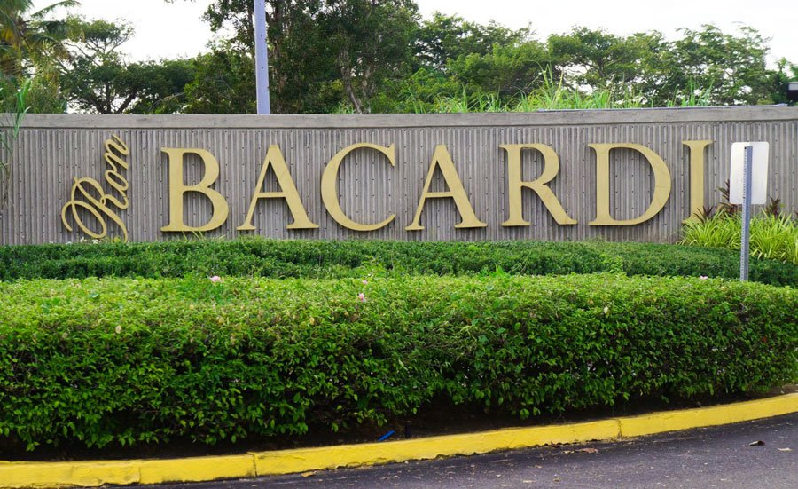 View of the Casa Bacardi sign at the entrance