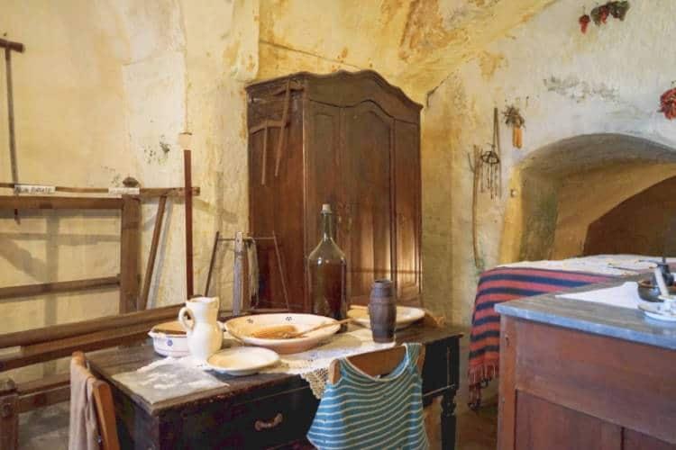 Inside of Casa Grotta in Matera