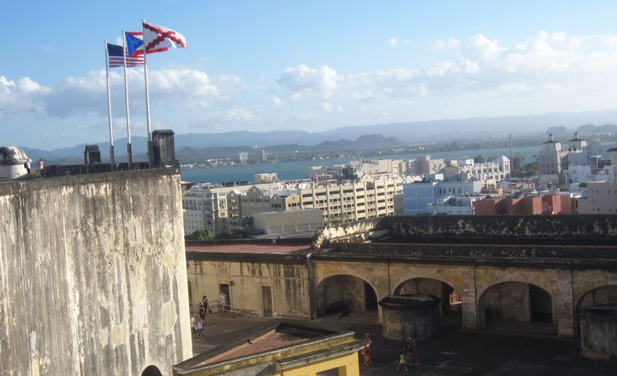 View from the top of Castillo San Cristobal