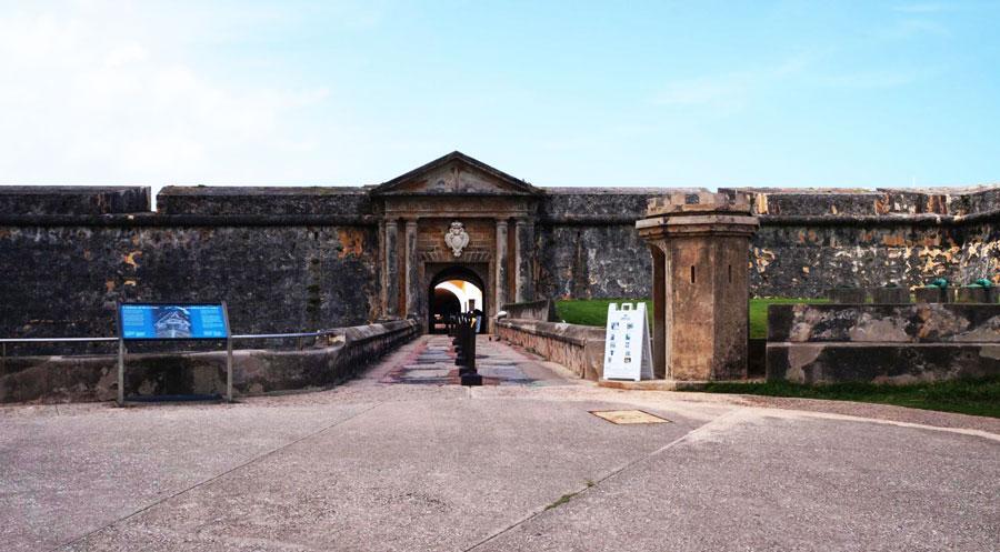 View of the entrance to Castillo San Felipe del Morro