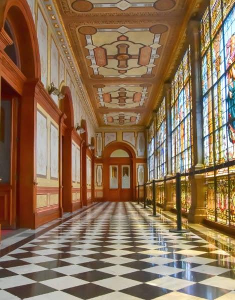 A hallway at Chapultepec Castle